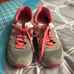 Pink and gray new balance